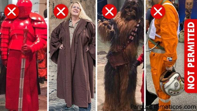 Que ropa NO está permitida en Star Wars: Galaxy´s Edge