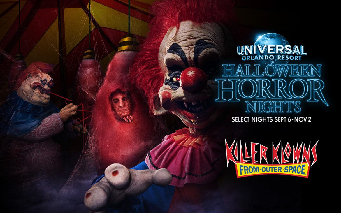 Killer Klowns aterriza en Halloween Horror Nights de Universal Studios