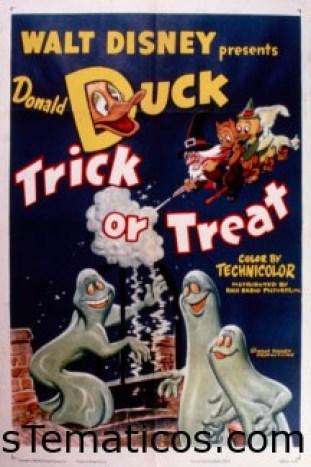 """""""La caricatura de Donald Duck Trick or Treat de 1952 alcanzó millones a través de pantallas de cine y TV"""", dice la autoridad de la historia de Halloween, Lesley Bannatyne. © Disney"""