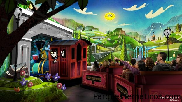 Video del nuevo tren de Mickey y Minnie que llega a Walt Disney World y Disneyland