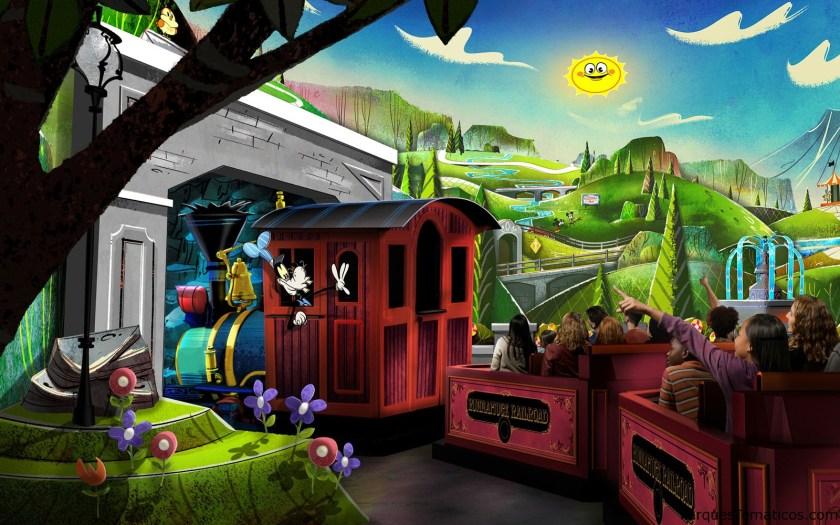 Mickey & Minnie's Runaway Railway debuta en Disney's Hollywood Studios
