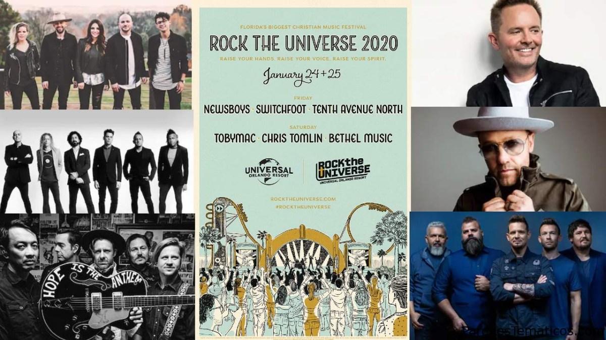 Chris Tomlin, Tobymac, Switchfoot y más se presentarán el próximo fin de semana en Rock the Universe de Universal Orlando