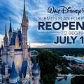 Reapertura de los parques temáticos, los hoteles y las tiendas en Walt Disney World Resort