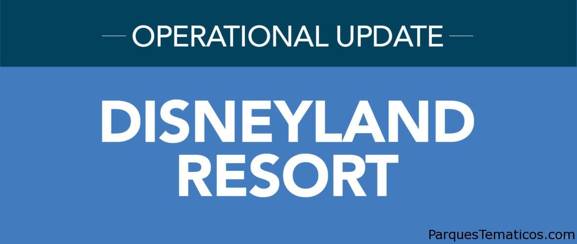 Actualización de reapertura de Disneyland Resort
