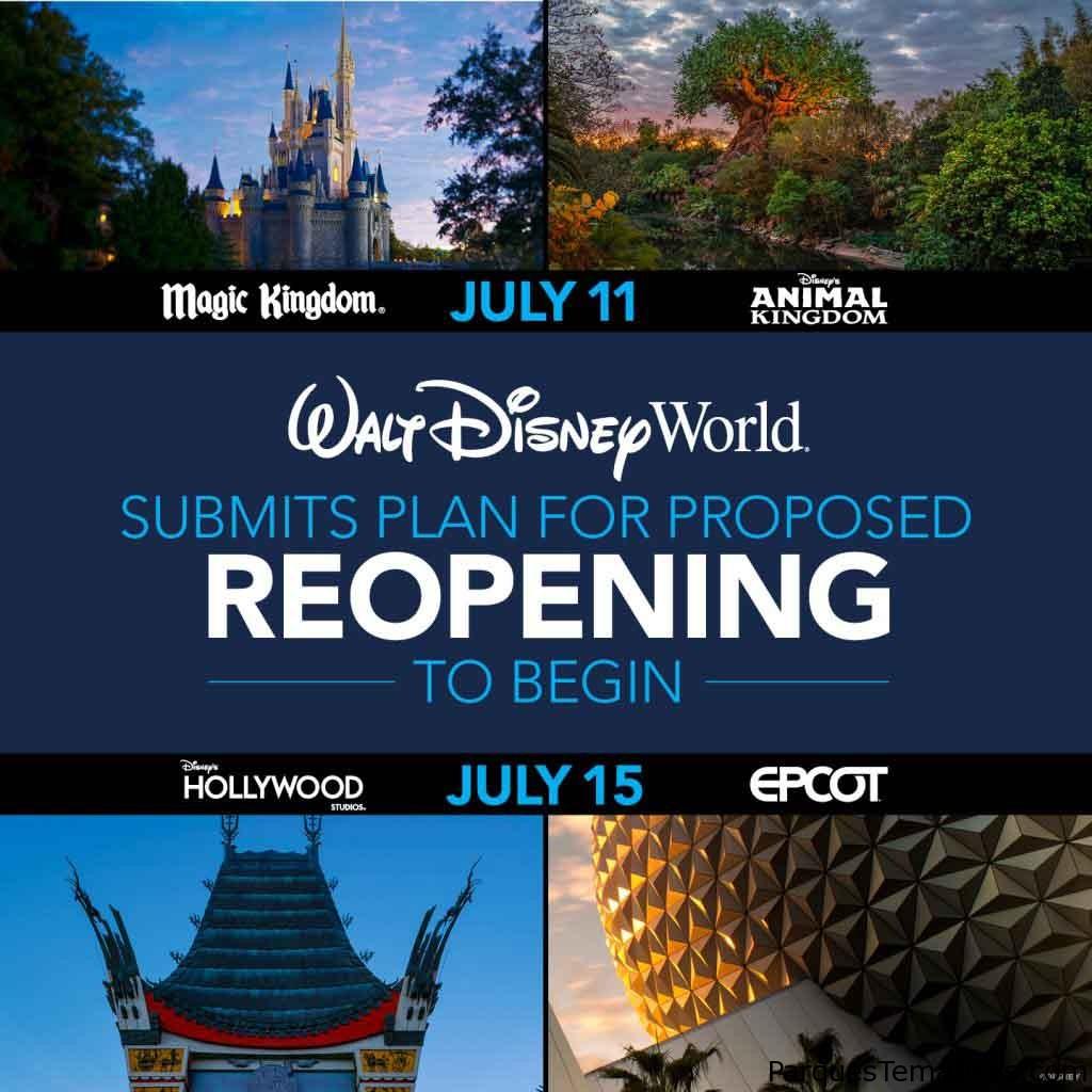 Reapertura en fases de Walt Disney World Resort e información importante
