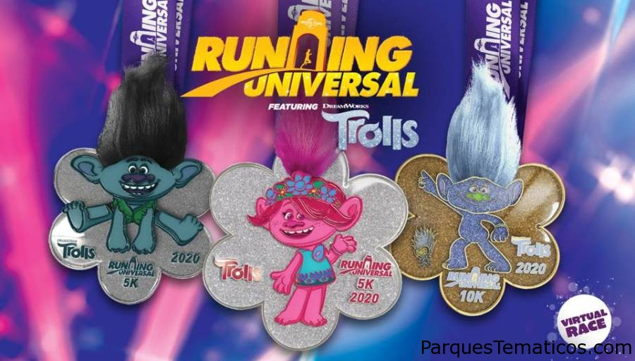 Universal Studios Hollywood presenta su carrera virtual Running Universal con los trolls de DreamWorks Animation