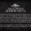 Actualización de Halloween Horror Nights para Universal Orlando y Universal Studios Hollywood