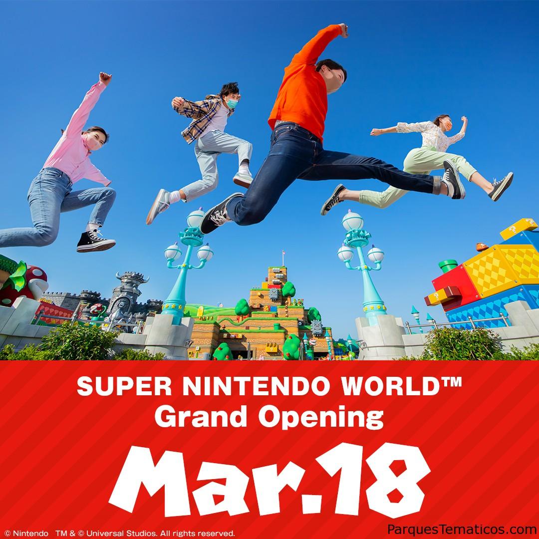 El primer parque temático de Super Mario Bros abrirá en Japón el 18 de marzo