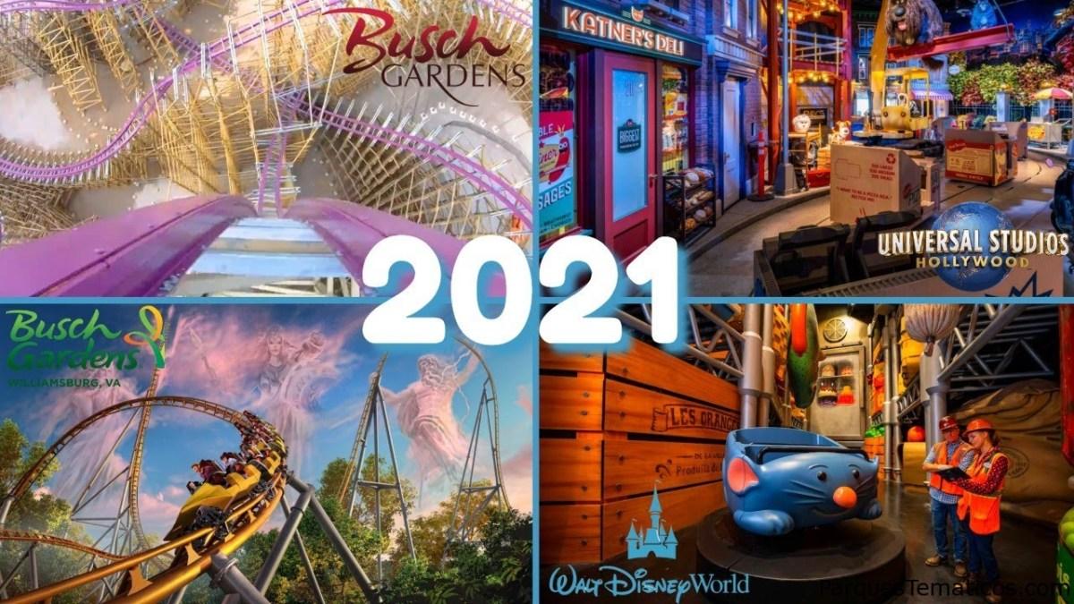 Novedades 2021 en Disney, Universal, SeaWorld y Bush Gardens