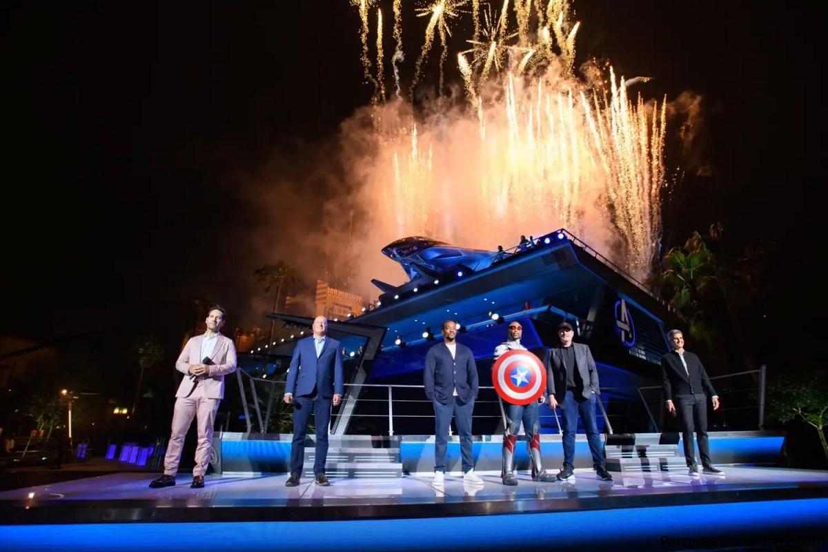 El nuevo Avengers Campus fue presentado en una ceremonia de inauguración épica en Disney California Adventure Park, previa al debut del área temática el 4 de junio de 2021 en Disneyland Resort