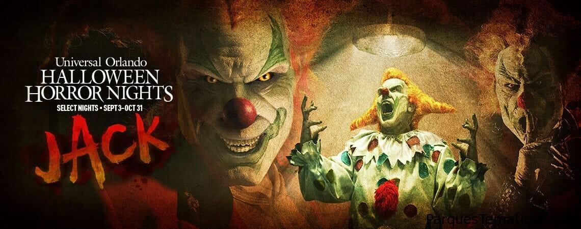 Universal Orlando Resort revela el infame regreso de Jack el Payaso a Halloween Horror Nights y anuncia los boletos selectos que están ya a la venta para el mejor evento de Halloween del mundo, que comienza el viernes 3 de septiembre