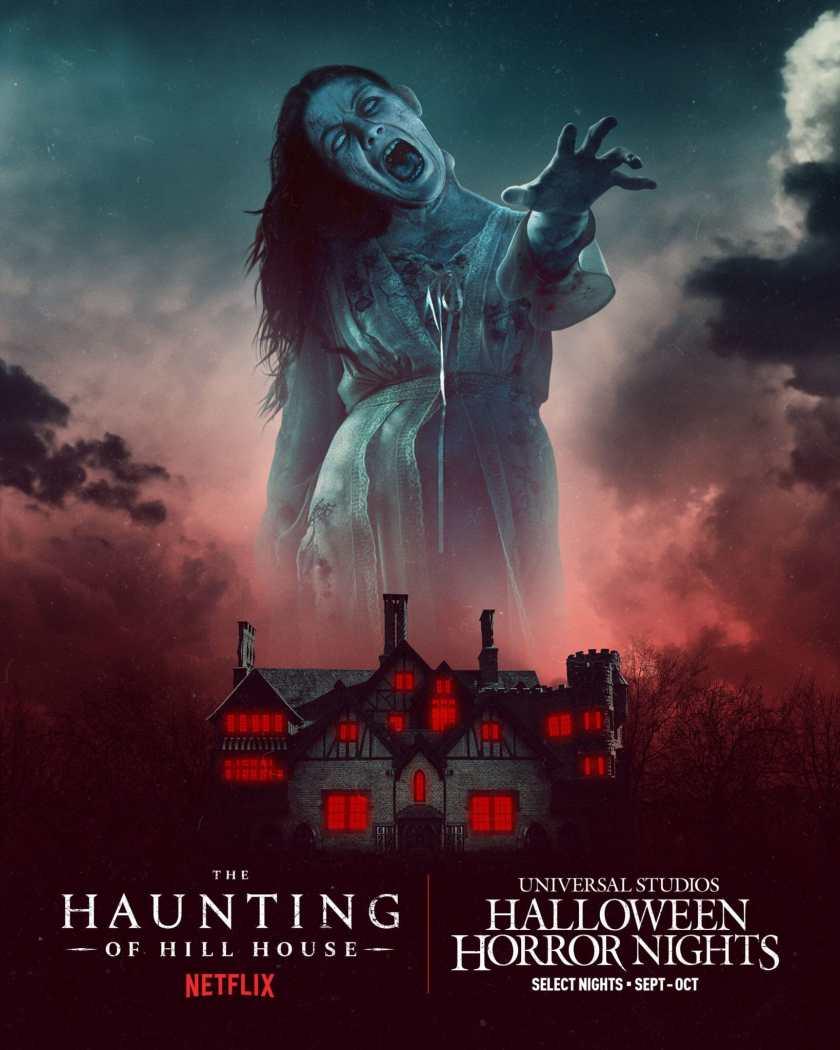 Halloween Horror Nights de Universal Studios debutará casas embrujadas totalmente nuevas inspiradas en la serie de Netflix The Haunting of Hill House