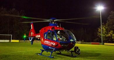 Devon Air Ambulance night landing