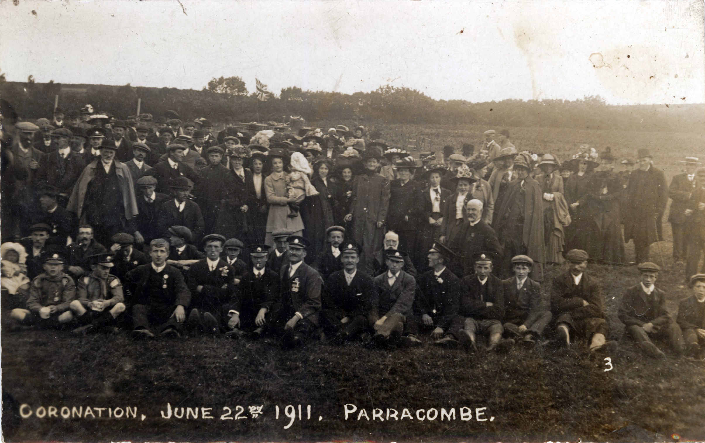 1911 Coronation Parracombe Villagers - kind permission of Allan Shute