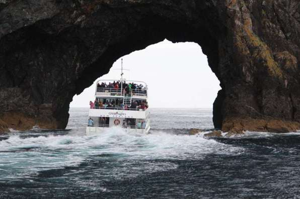 The Fuller cruise heading through the Hole