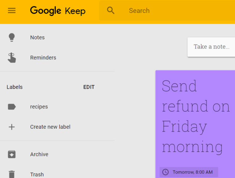 google keep square