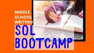 middle school writing boot camp online class
