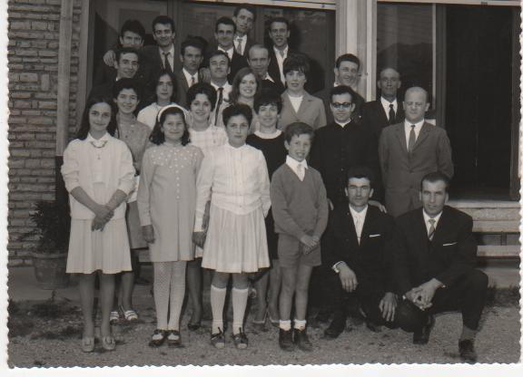 La corale in occasione della prima Messa di Padre Tobia Bassanelli (1969)