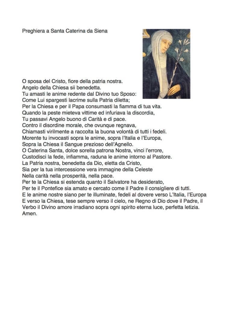 2020 03 Preghiera Santa Caterina