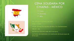 Cena solidaria por Chiapas (México) 7 marzo