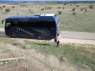 Clunia María Angeles y nuestro bus