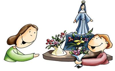 Resultado de imagen de ofrenda floral mayo maria