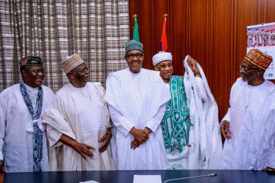 Buhari meets with his 1984-1985 ministers (Photos)