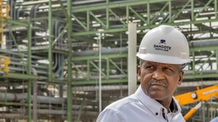Dangote Commences Pre-testing of $2bn Fertilizer Plant ahead of Inauguration