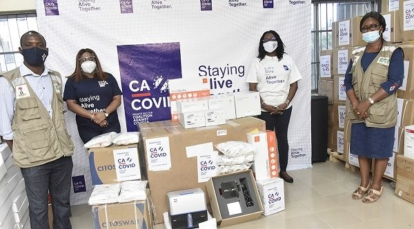 CACOVID donates N1.4bn medical equipment, 26,400 test kits