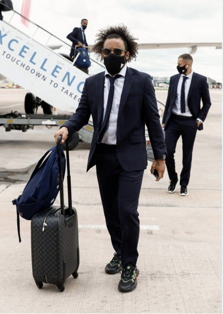 Real Madrid players land in Manchester for crunch match