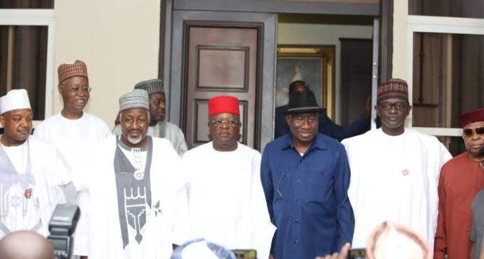APC governors swoop on Jonathan ahead of 2023 elections