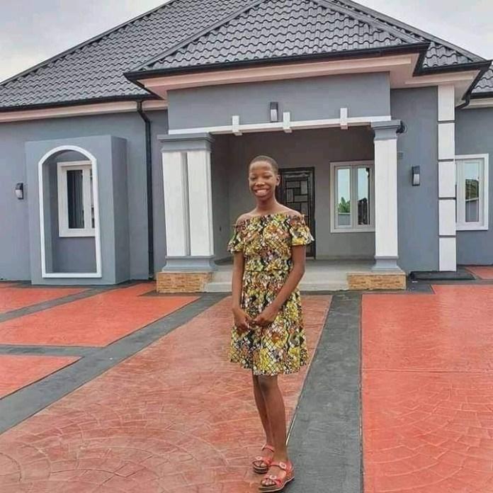 Little Emmanuella built her mother a house without marrying her grandfather – Fans troll Regina Daniels for calling Emmanuella 'little girl'