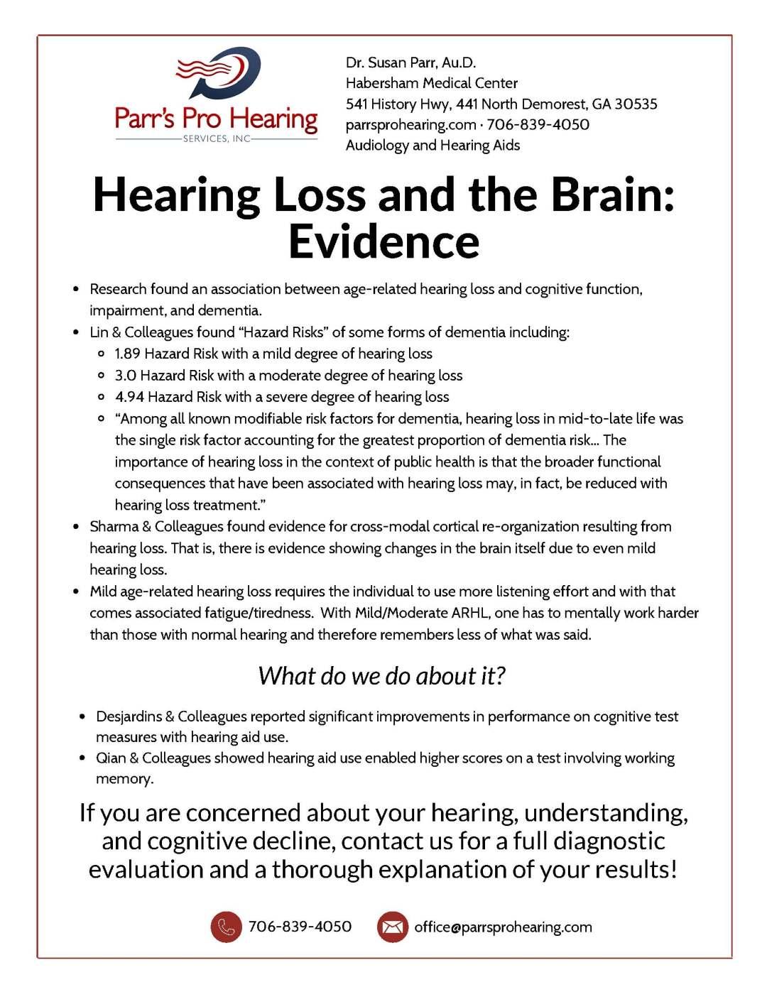 Hearing Loss and the Brain printable