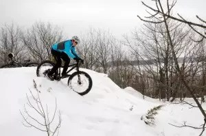 Fat biking in Parry Sound