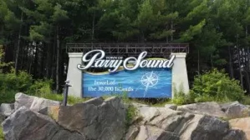 Parry Sound Trestle sign