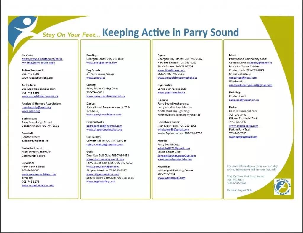 screen shot of list