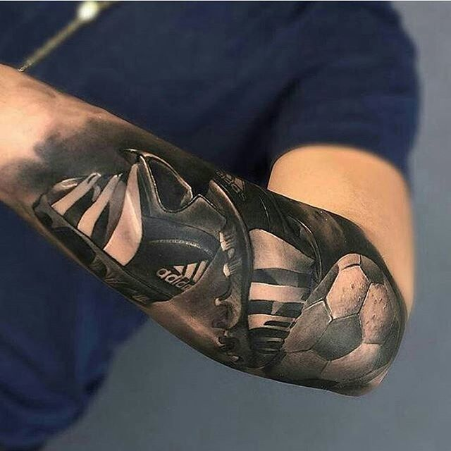 Knife And Anchor Tattoo
