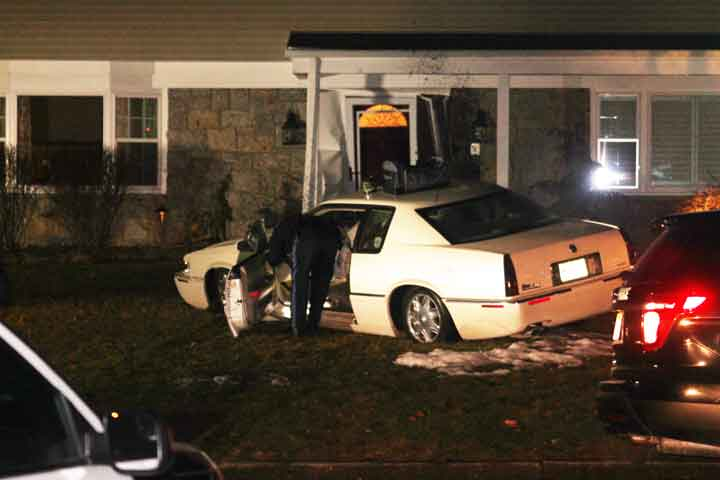 Car hits house; Driver charged with Careless Driving
