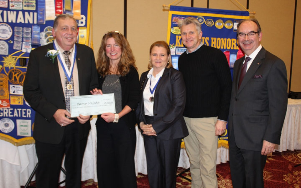 Kiwanis Club of Greater Parsippany donates $7,500 to Camp Nejeda