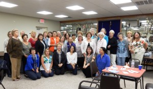 Members of Parsippany and Denville-Rockaway Clubs pose after a Bunco party to benefit the National Alliance on Mental Illness