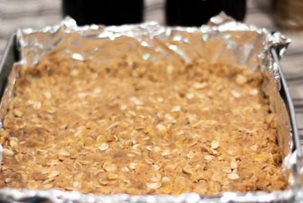blueberry oatmeal bars crust