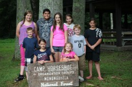 During the week of July 21 – 27 those attending were, (L to R), front row, Jaycee Dillsworth and Kaylee Jennings.  Middle row, Dominic Jensen, Lauren McCrum, and Hayden Smith-Bennett.  Back row, Lacey Cross, Kelvin Ackery, Cassandra Jennings, and Christina Parks.