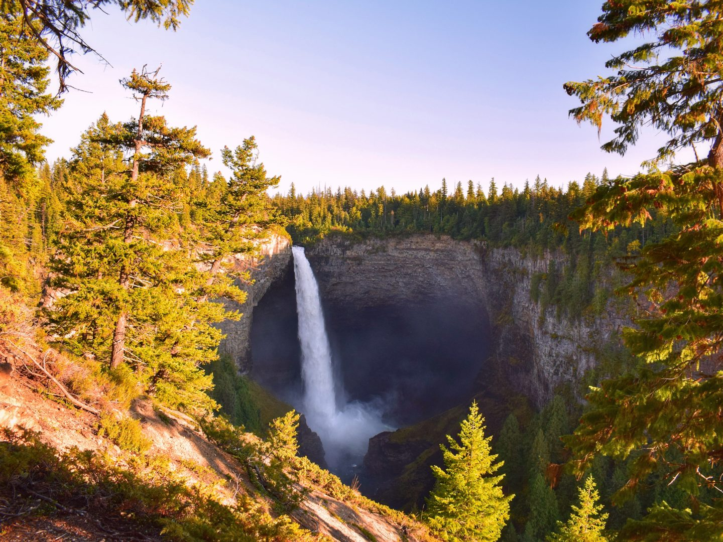 How to travel more with a full-time job waterfall in Canada