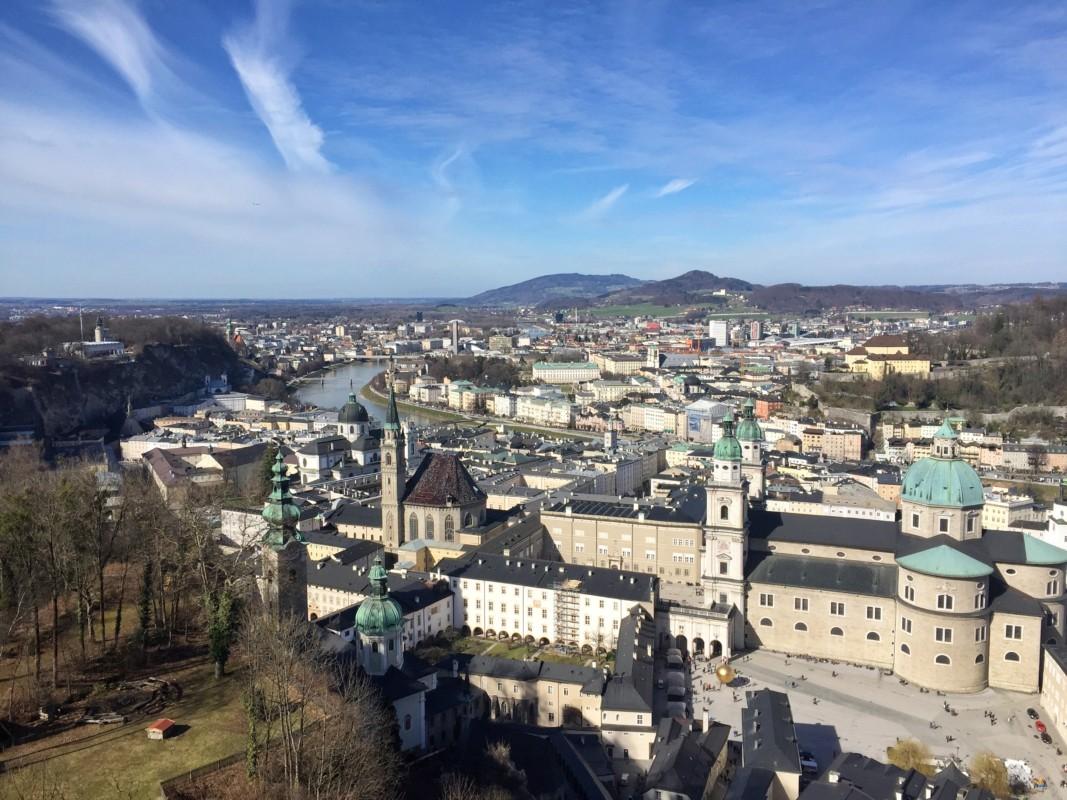 View of Festung Hohensalzburg Salzburg Austria