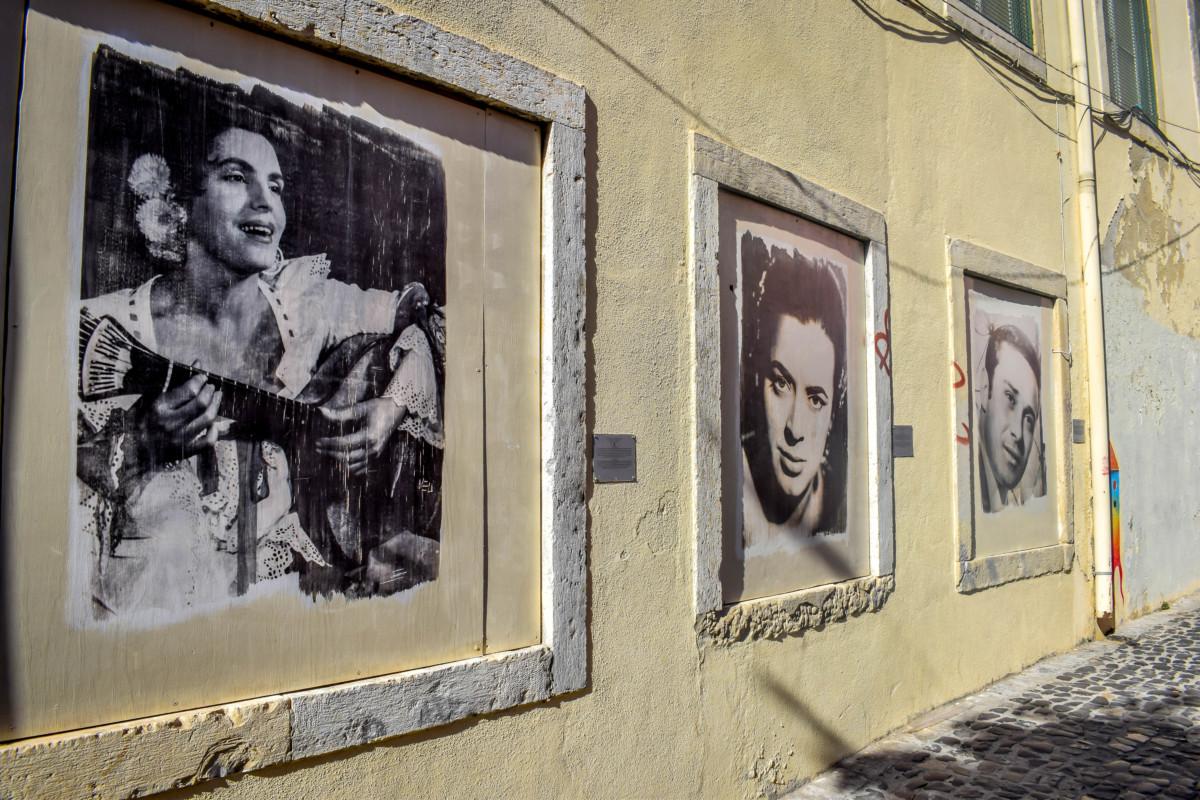 Lisbon street art Mouraria fado