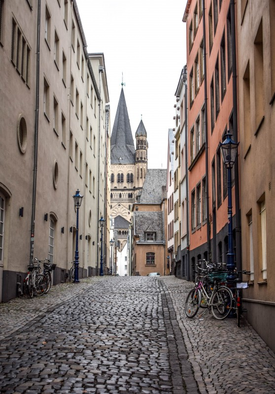 Altstadt Cologne Germany alleyway