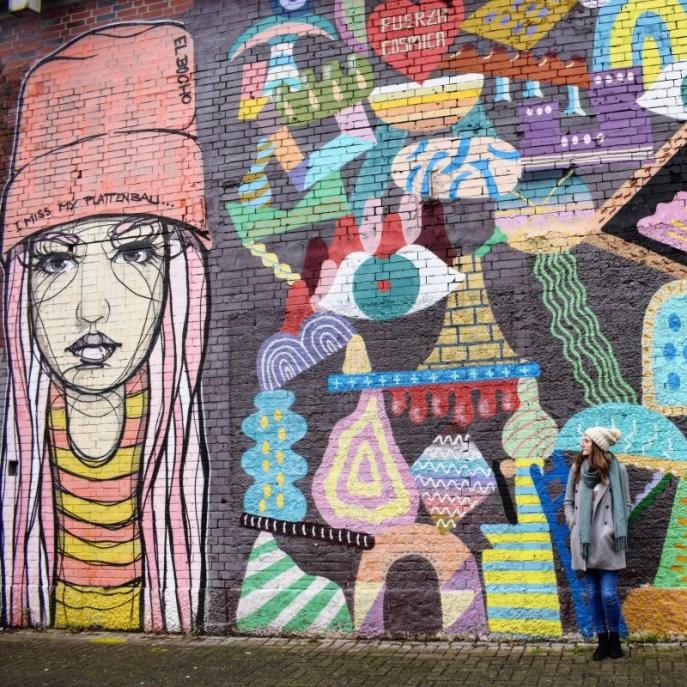 Girl street art Ehrenfeld Cologne Germany