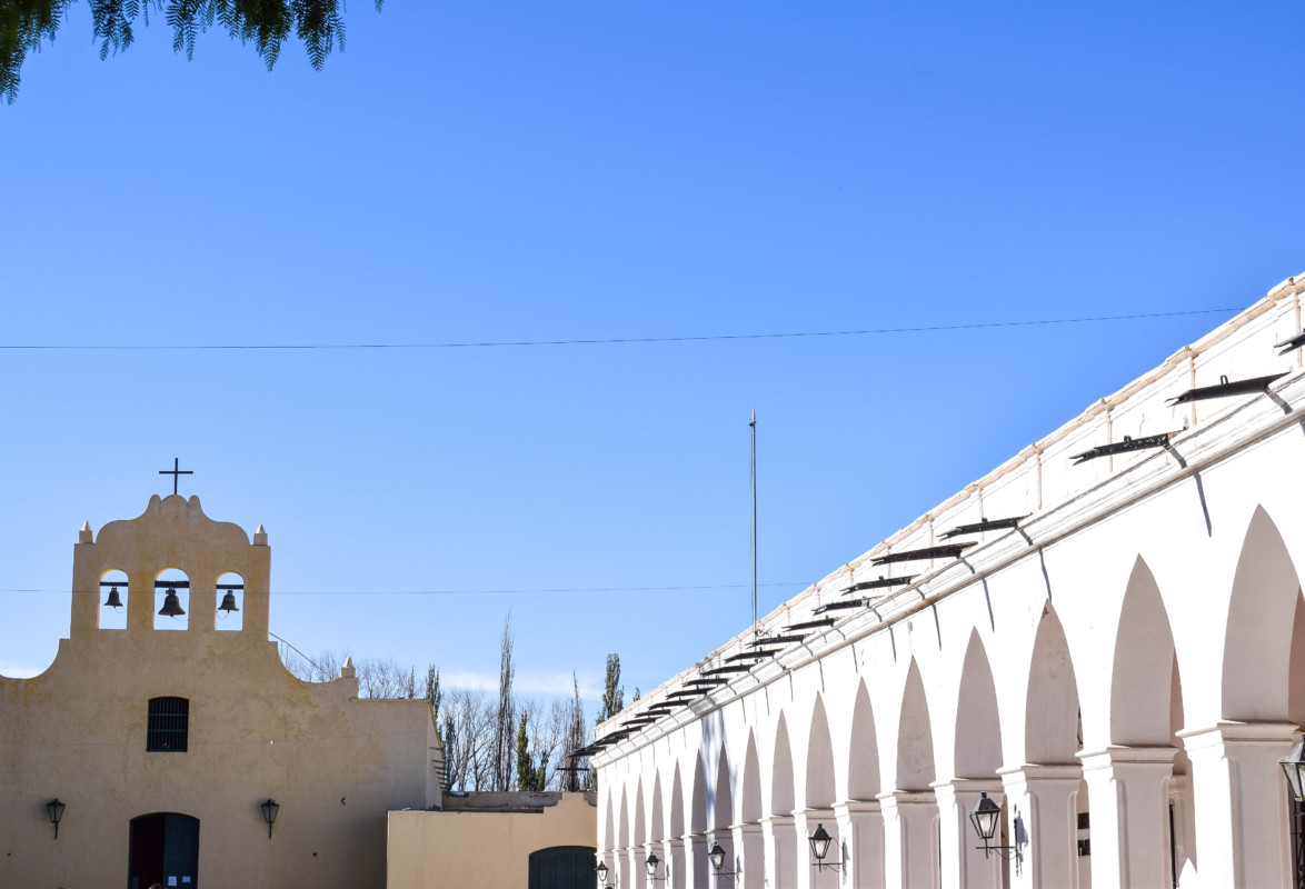 Main church and arches in Cachi Argentina