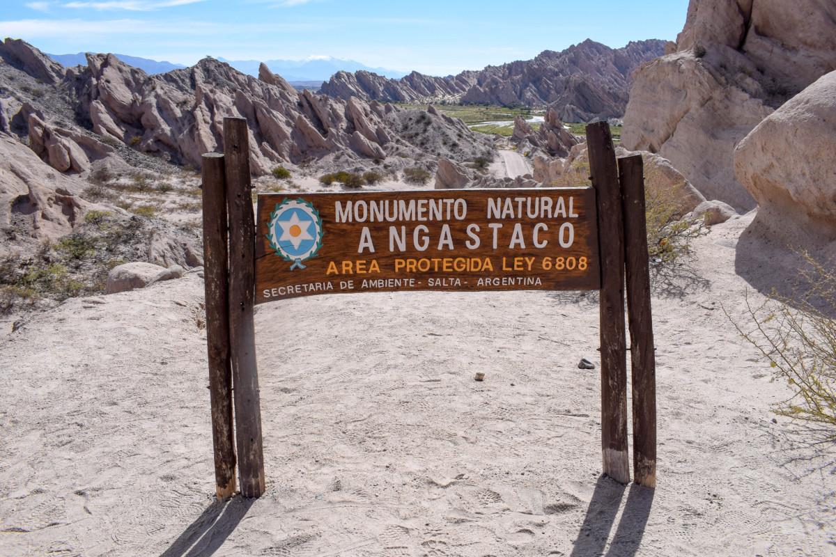 monumento natural angastaco Cachi to Cafayate Argentina