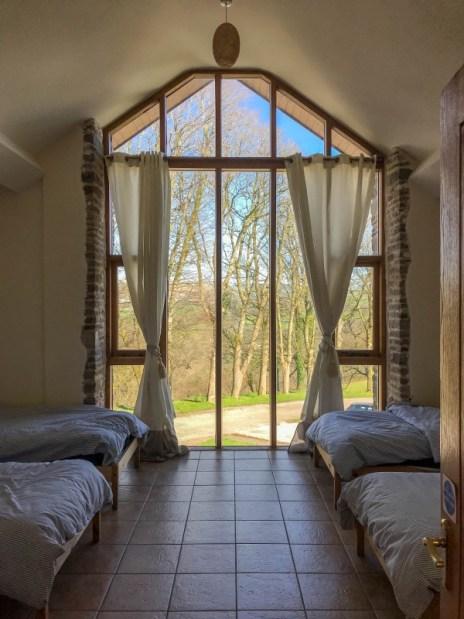 Tondu farm house bedroom Wales